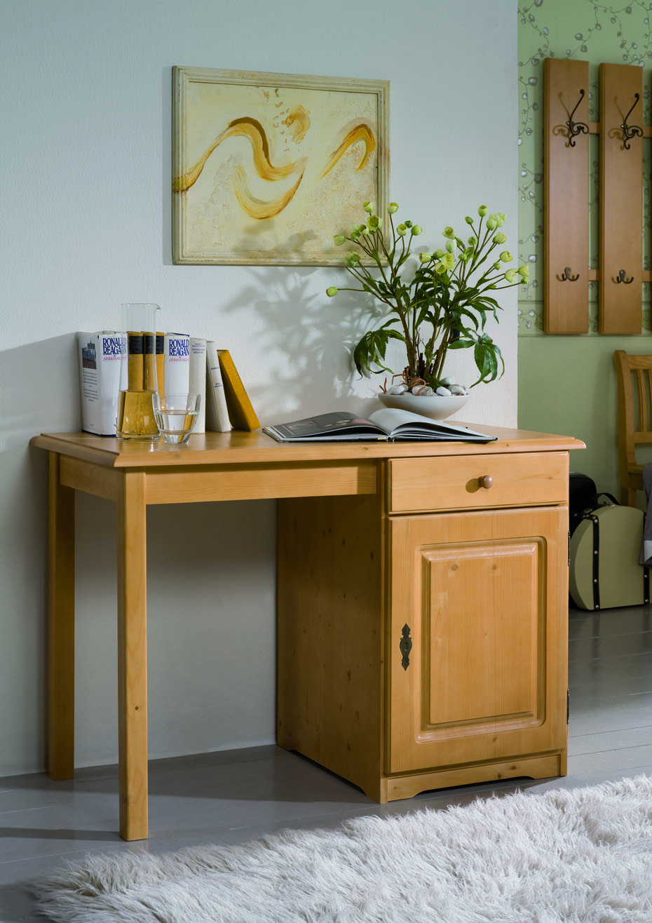 schreibtisch f gen lackiert m bel kurz. Black Bedroom Furniture Sets. Home Design Ideas